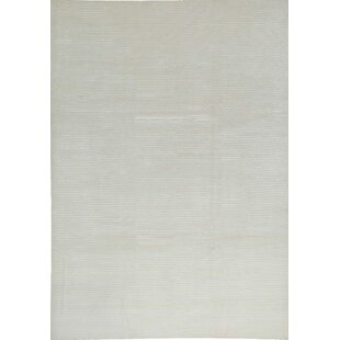 One-of-a-Kind Himalayan Art Handwoven 8'3 x 11'5 White Area Rug By Bokara Rug Co., Inc.