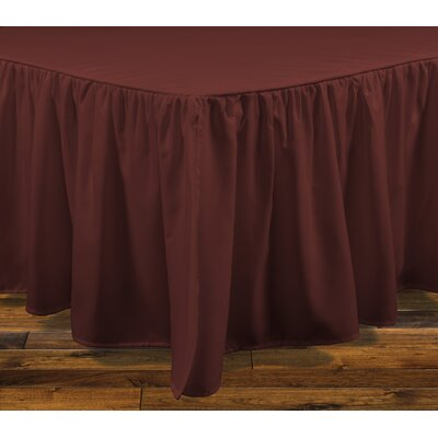 Brielle Stream 15 Bed Skirt Size: Full, Color: Russet Red