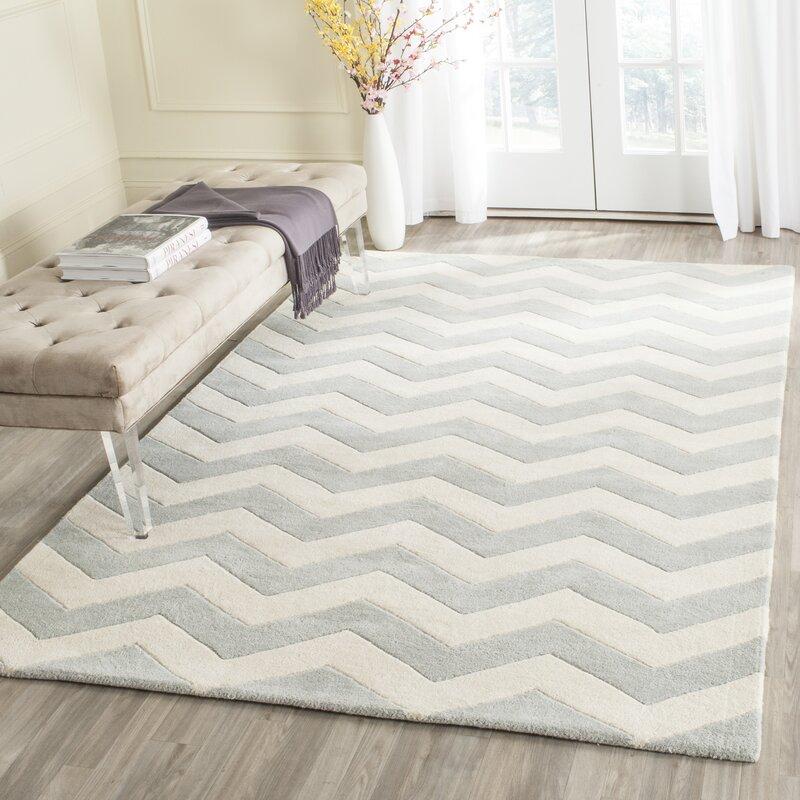 safavieh handgefertigter teppich bryant aus wolle in grau elfenbein bewertungen. Black Bedroom Furniture Sets. Home Design Ideas