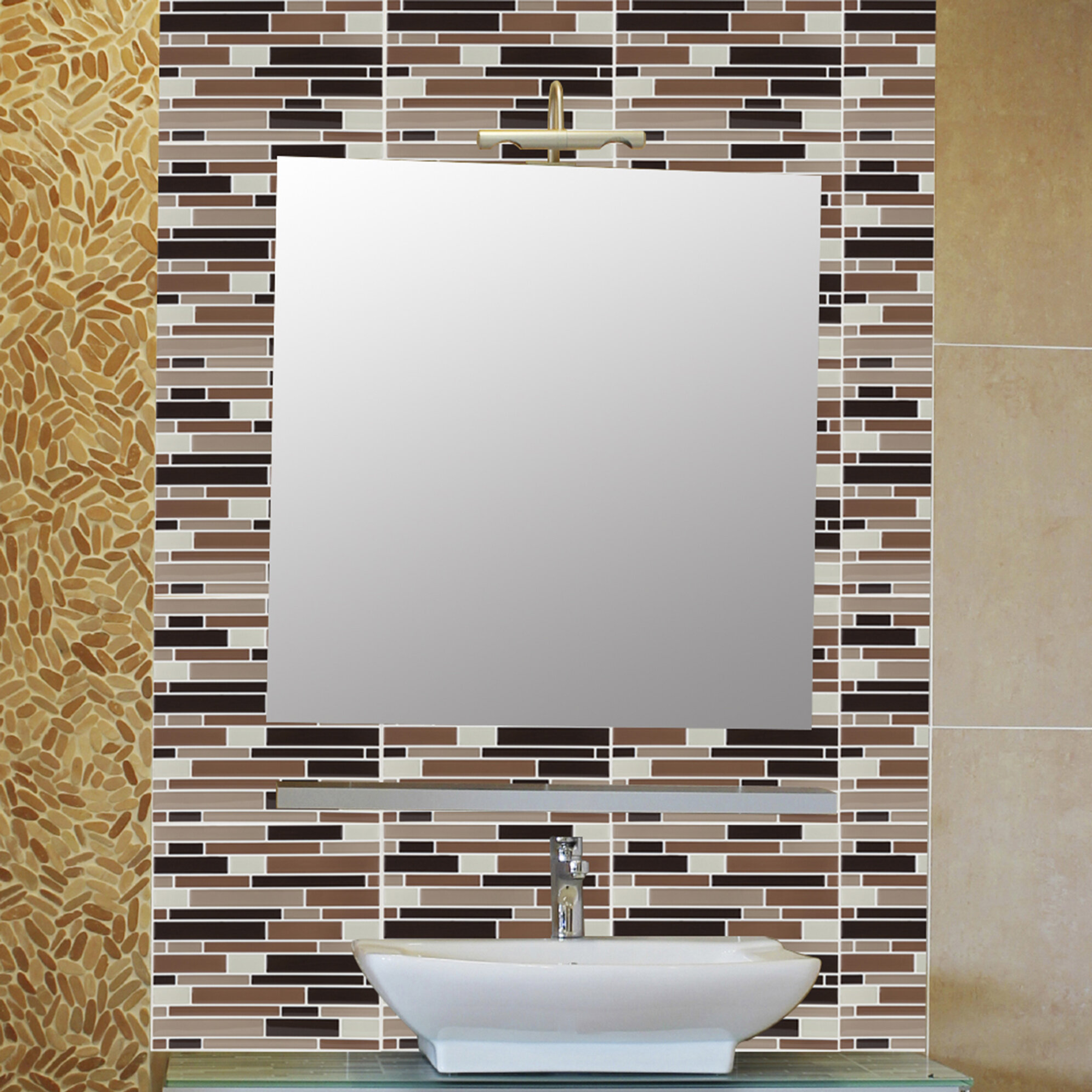 Peel Stick Mosaic Tiles Tile Design Ideas