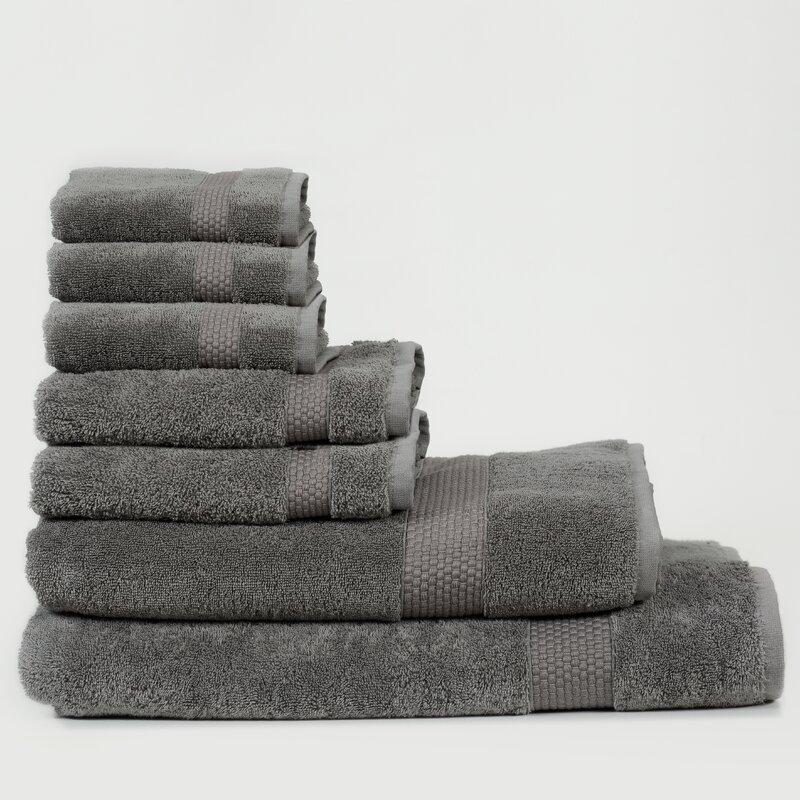 Canora Grey Al 7 Piece Turkish Cotton Bath Towel Set