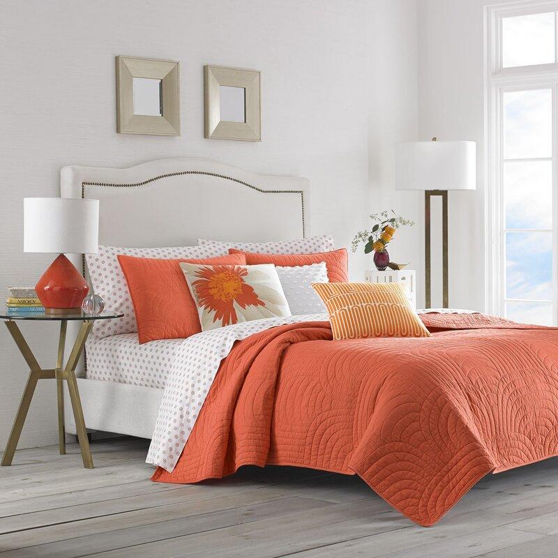c0560b4ccd Trina Turk Palm Desert 100% Cotton Reversible Quilt Set & Reviews | Wayfair