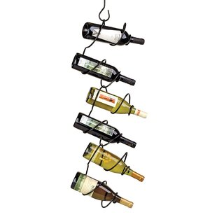 Climbing Tendril 6 Bottle Hanging Wine Bottle Rack
