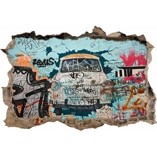 pixxprint trabi graffiti art wall sticker. Black Bedroom Furniture Sets. Home Design Ideas