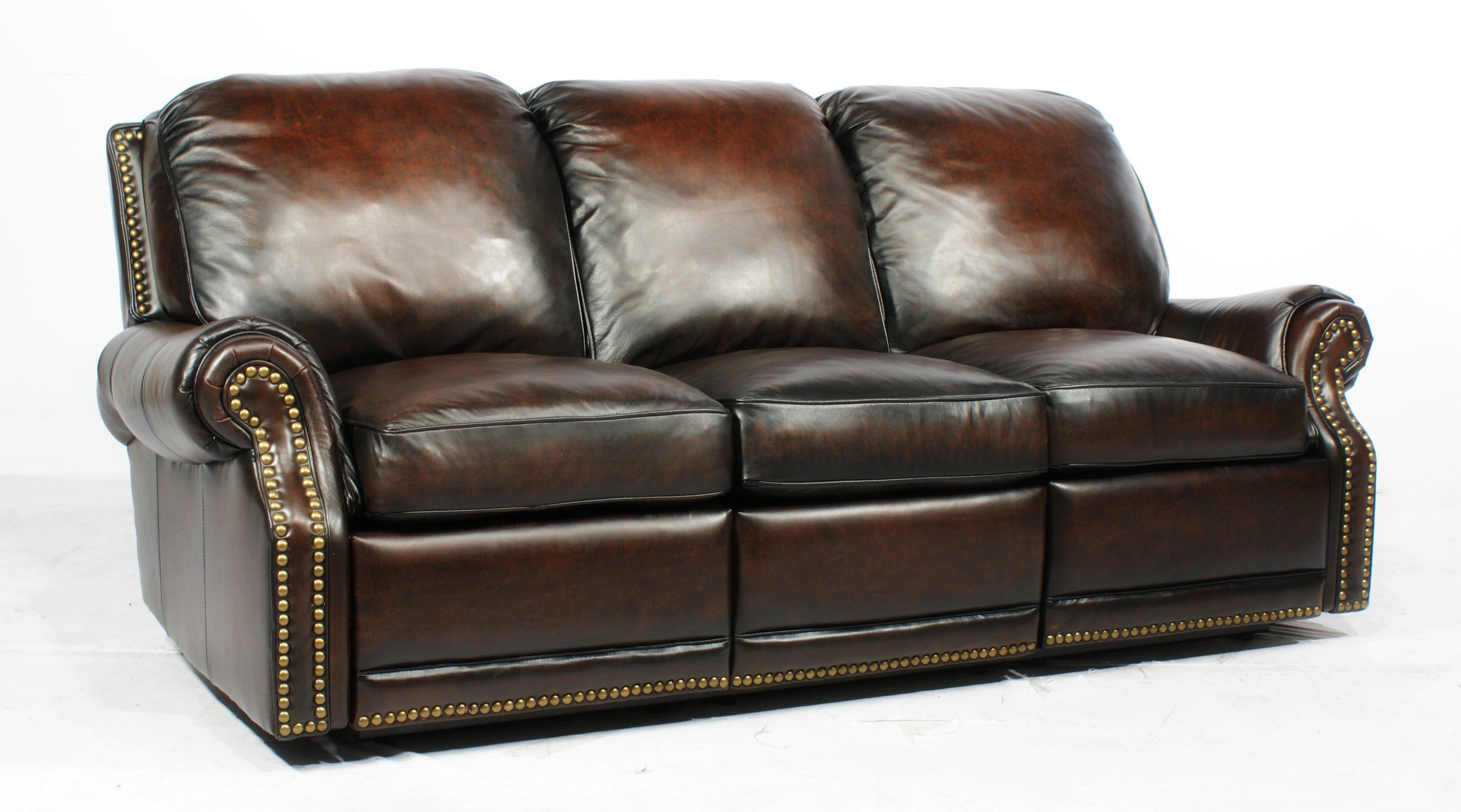Tan Leather Reclining Sofa | Wayfair