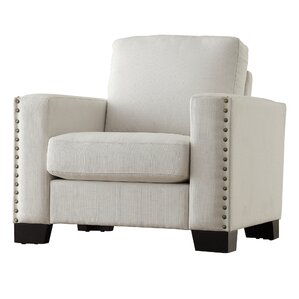 Blackston Nailhead Trim Armchair by Mercury Row