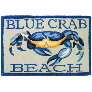 Providence Blue Crab Beach Area Rug
