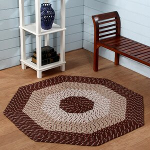 Country Hand-Braided Red Area Rug