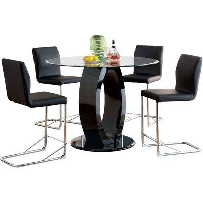Orren Ellis Berwick 5 Piece Dining Set Color: Black