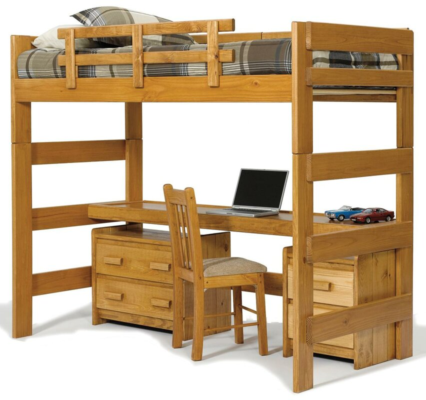 Chelsea Home Twin Loft Bed Configurable Bedroom Set & Reviews ...