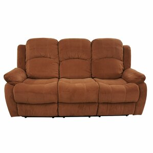 Traditional Brush Microfiber Reclining Sofa
