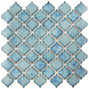 Blue Mosaic Floor Tile You Ll Love In 2019 Wayfair