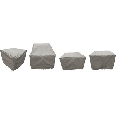 Sol 72 Outdoor Waterbury 7 Piece Patio Furniture Cover Set Size: 18 H x 16 W x 18 D, Color: Gray