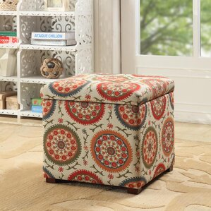 bischof fashion upholstered storage cube ottoman