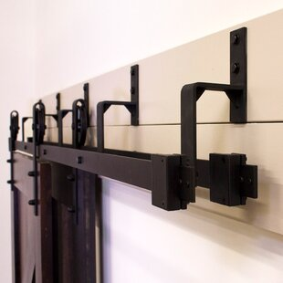 bypass barn door hardware. By-Pass Barn Door Hardware (Set Of 5) Bypass