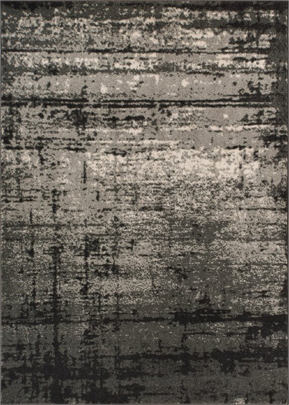 Coolidge Modern Distressed Gray Area Rug