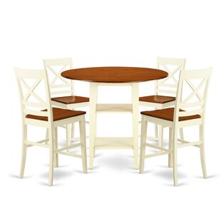 Tyshawn Counter Height 5 Piece Pub Table Set Find