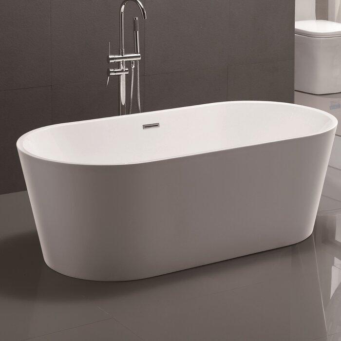 59 x 295 Freestanding Soaking Bathtub Vanity