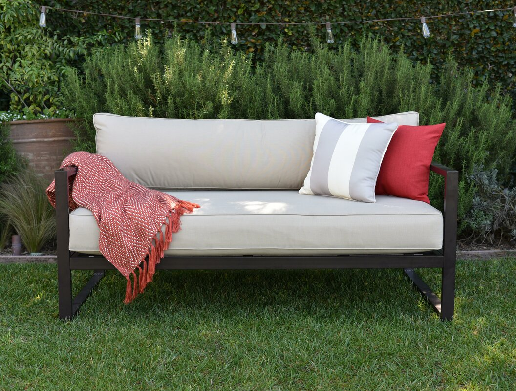 catalina outdoor sofa with cushions reviews joss main. Black Bedroom Furniture Sets. Home Design Ideas