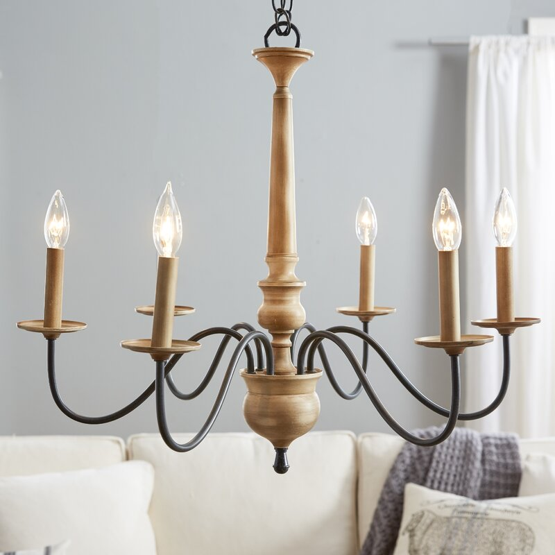 Wayfair Dining Room Lighting: Birch Lane™ Edson 6-Light Candle-Style Chandelier