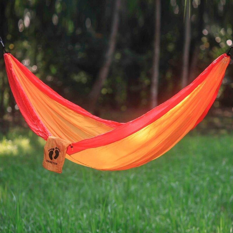 hang ten parachute nylon camping hammock novica hang ten parachute nylon camping hammock  u0026 reviews   wayfair  rh   wayfair