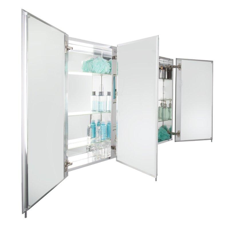 Triple Door Tri View 48 X 31 Surface Mount Medicine Cabinet