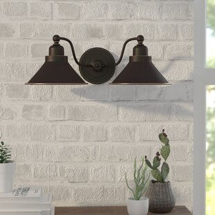 Sconces youll love wayfair schaff 2 light wall sconce in mission dust bronze aloadofball Choice Image