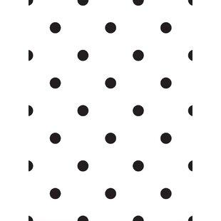"""Nicolette 4' L x 24"""" W Polka Dot Peel and Stick Wallpaper Roll"""