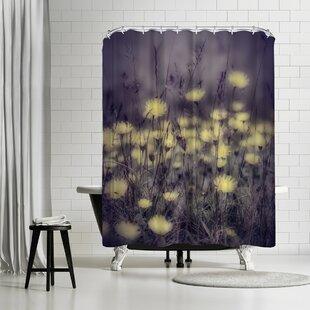 Mirja Paljakka Yellow Floral Meadow Shower Curtain