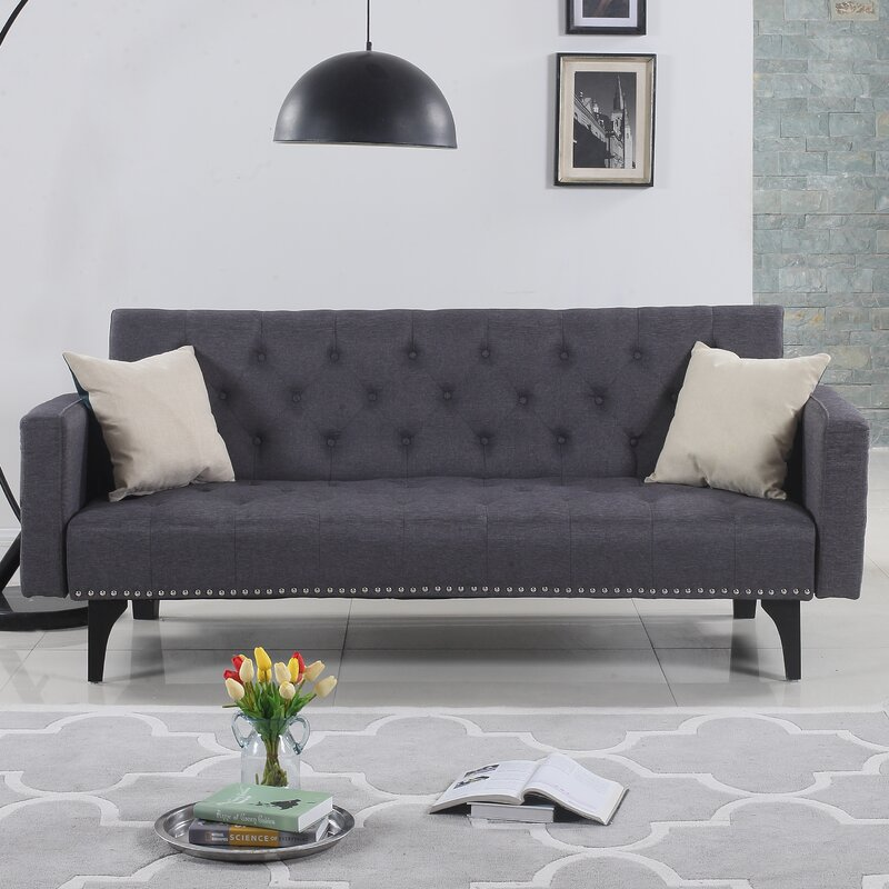 Ordinaire Rather Modern Tufted Reclining Sleeper Sofa
