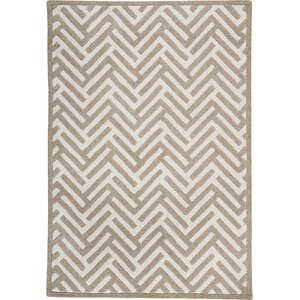 Tracks White/Ivory Area Rug