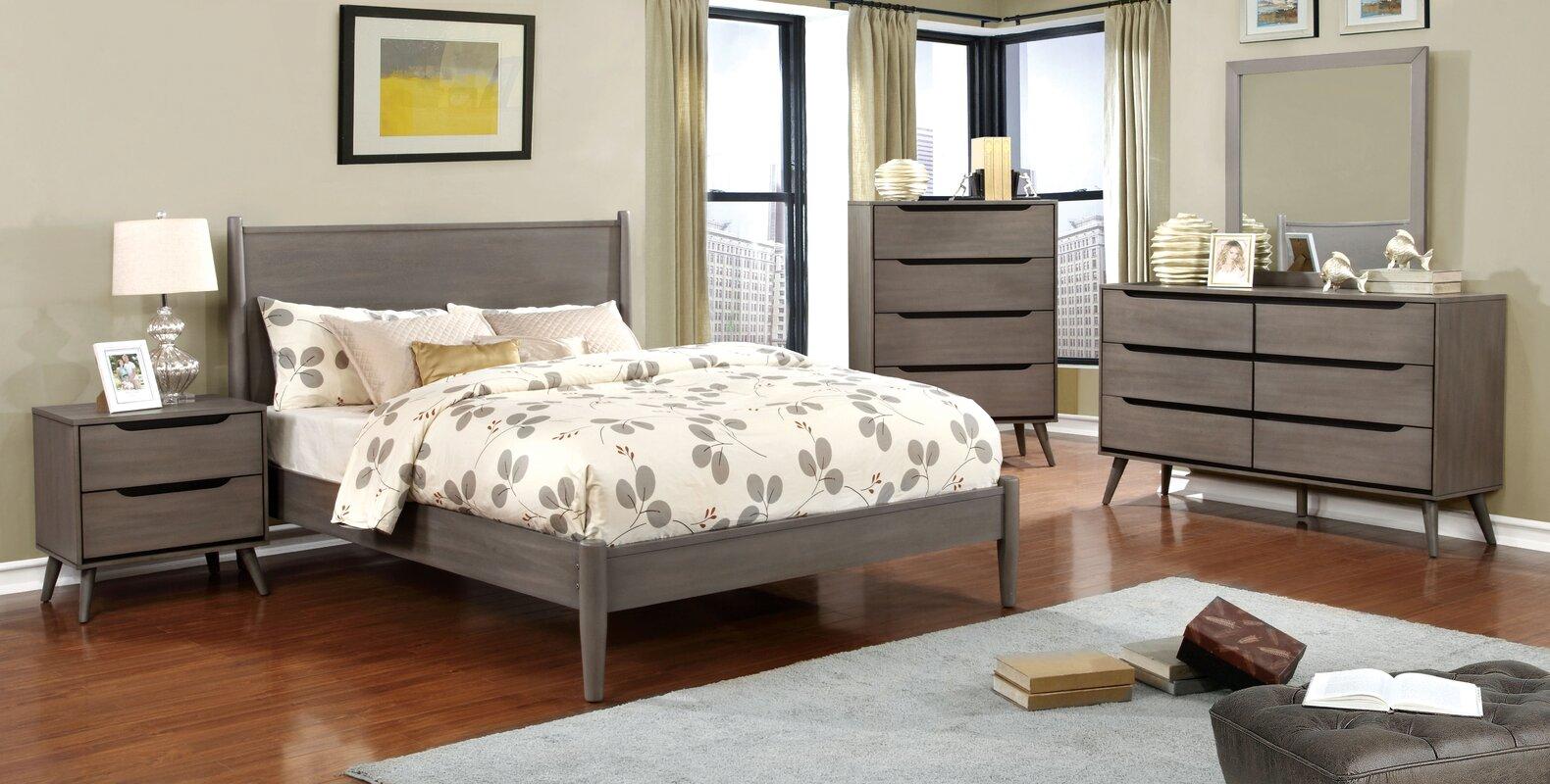 Mercury Row Mason Mid-Century Modern Platform Configurable Bedroom ...
