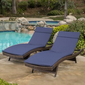 morello chaise lounge with cushion set of 2 - Outdoor Recliner Chair