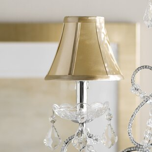 Shabby chic lamp shades wayfair 6 fabric bell lamp shade mozeypictures Gallery