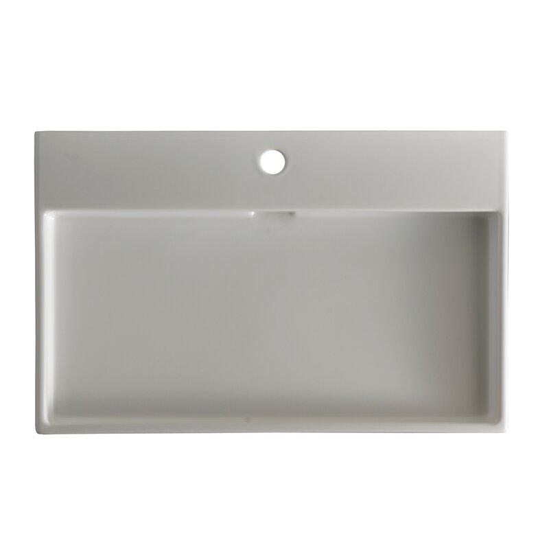 Bathroom Sinks Rectangular ws bath collections ceramica i urban ceramic rectangular vessel