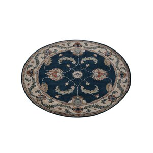 Adam Vintage Hand-Tufted Wool Blue/Beige Area Rug