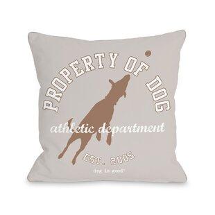 Property Of Dog Throw Pillow