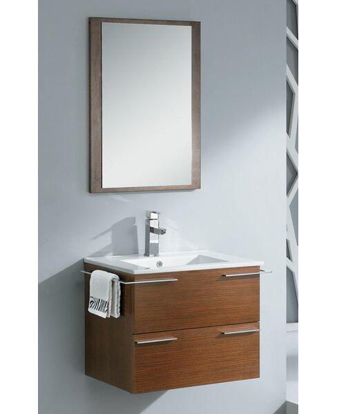 Cielo 24 Single Modern Bathroom Vanity Set With Mirror