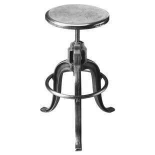 Coraima Adjustable Height Swivel Bar Stool