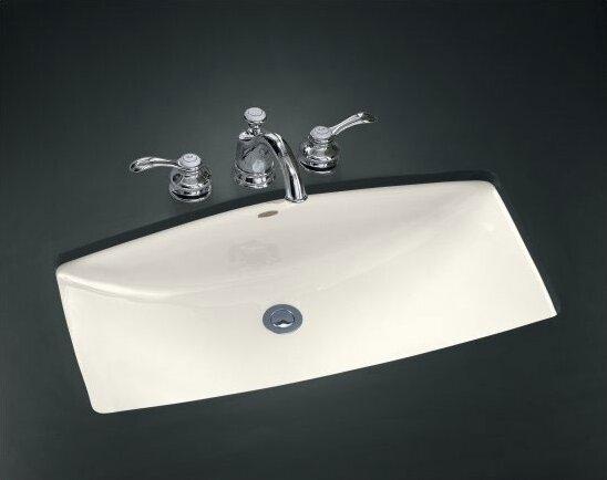 mans lav metal rectangular undermount bathroom sink with overflow - Kohler Undermount Bathroom Sinks