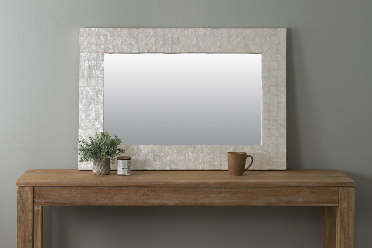 Beachcrest Home Mirror With Capiz Shell Amp Reviews Wayfair