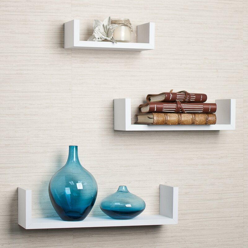 Floating Shelf mercury row colvard 3 piece floating shelf set & reviews | wayfair