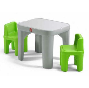 Mighty My Size Kids 3 piece Table u0026 Chairs Set  sc 1 st  Wayfair : kid sized table and chair set - Pezcame.Com