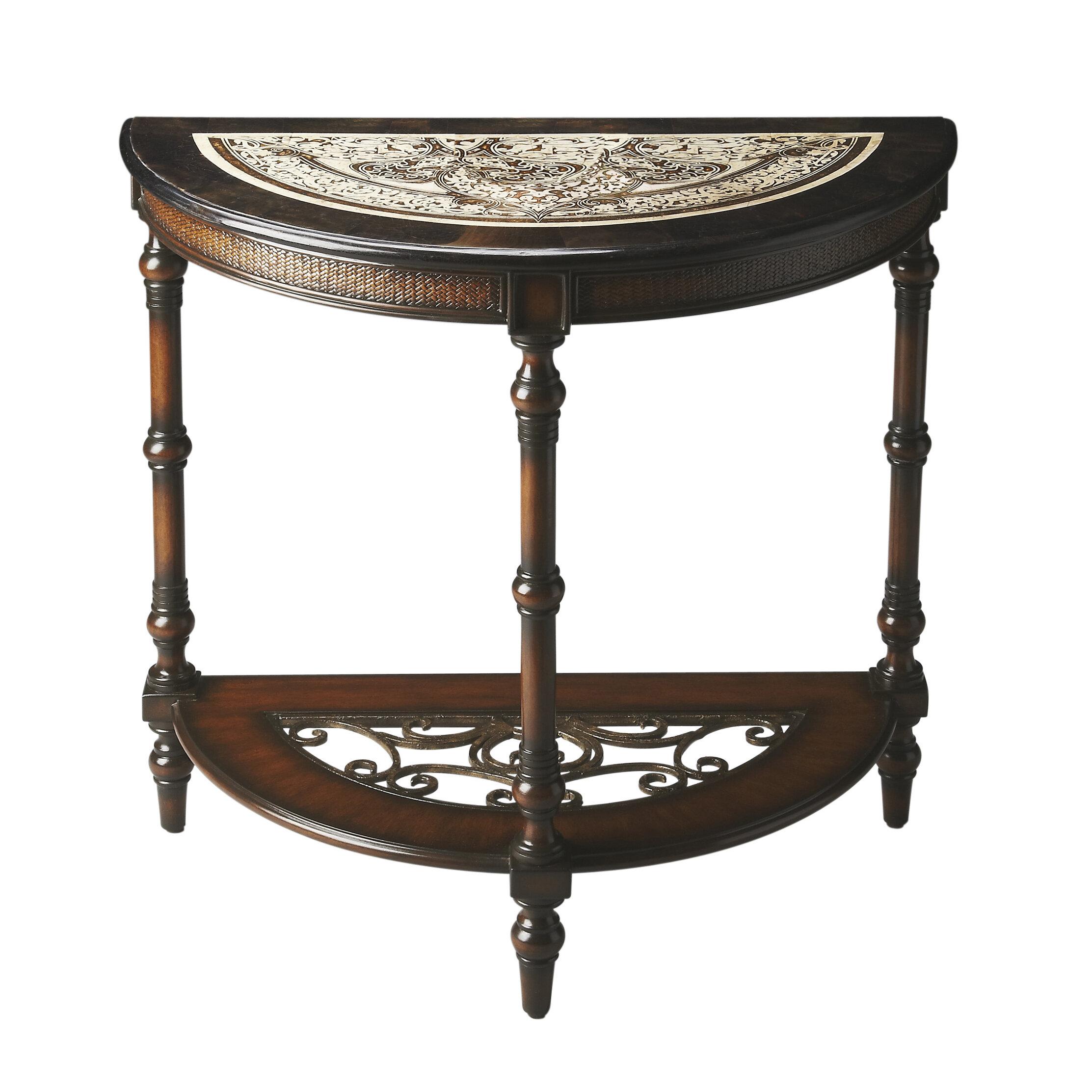 Outstanding Salgado Demilune Console Table Spiritservingveterans Wood Chair Design Ideas Spiritservingveteransorg