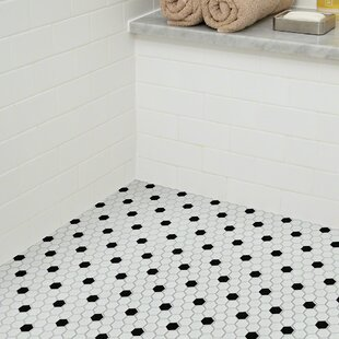 Sophisticated 0 7 X Porcelain Mosaic Tile In White Black By Shaw Floors