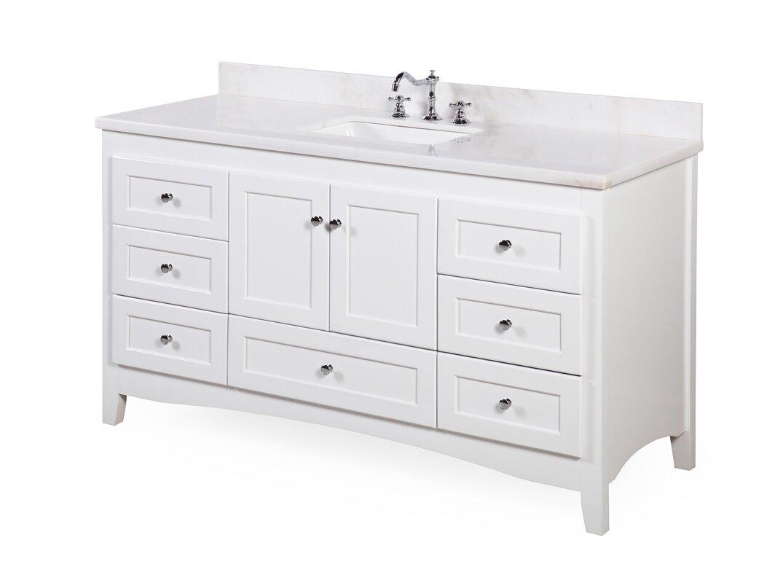 "60 Bathroom Vanity Amazing Kbc Abbey 60"" Single Bathroom Vanity Set & Reviews  Wayfair Design Inspiration"