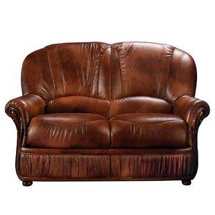 Dark Brown Leather Loveseat Wayfair