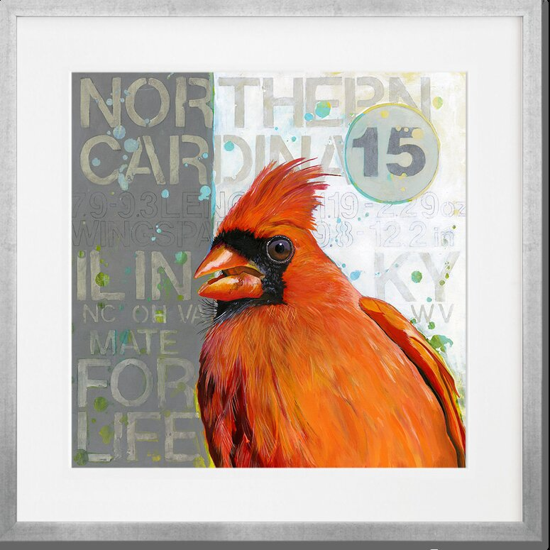 Greenbox Art Quot Northern Cardinal Quot By Angie Carrier Framed