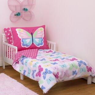 butterflies 4 piece toddler bedding set - Toddler Bedding