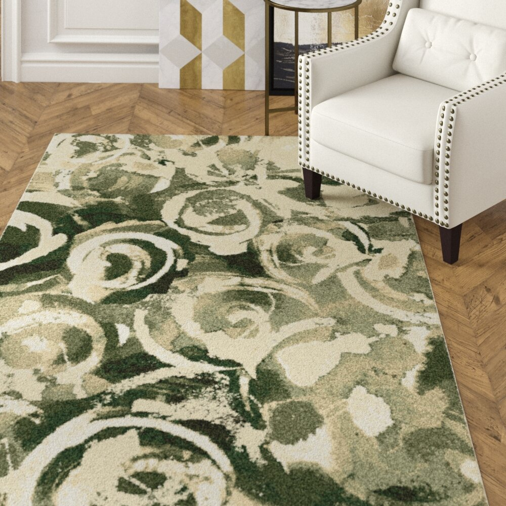 House Of Hampton Brune Black Area Rug Wayfair